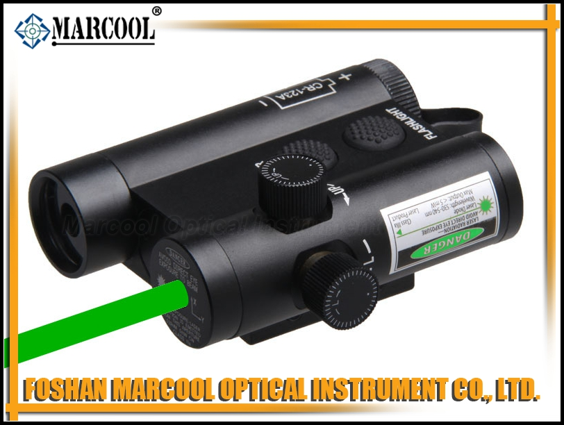LF-3G LED Flashlight and Green Laser Integration with Weaver Mount & Remote Switch