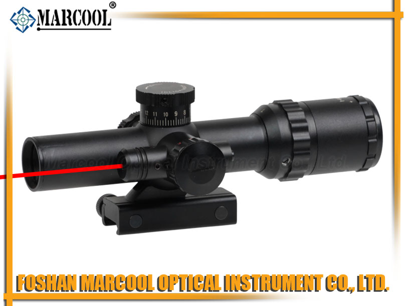 1-6X22 Rifle Scope with Red Laser