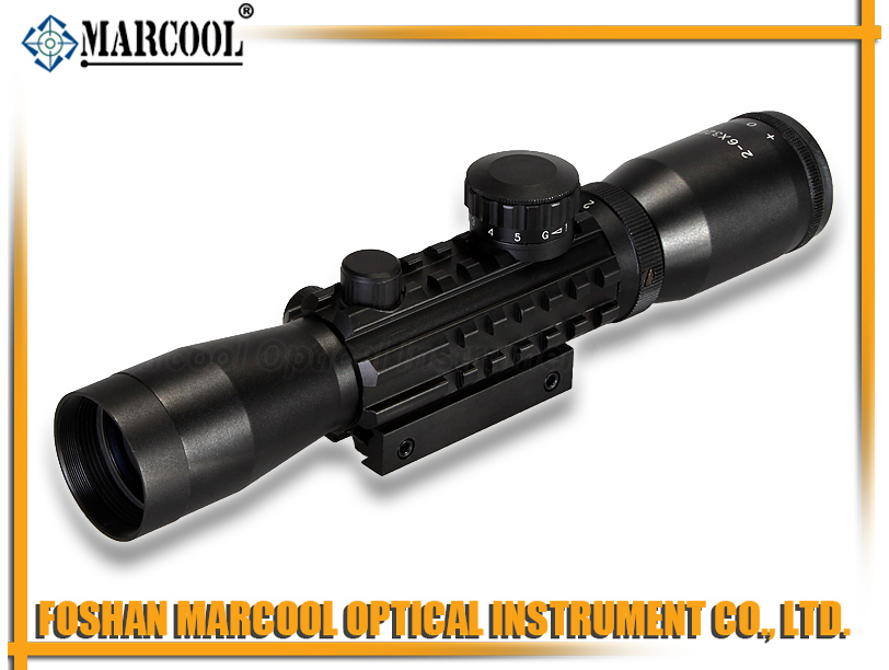 2-6X32EG Three sides rail Rifle Scope