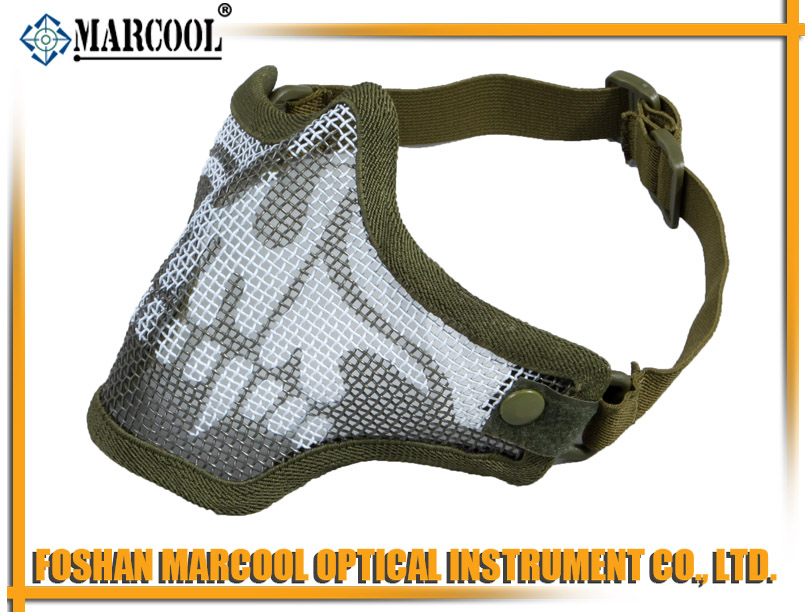 M1 Strike Steel Half Face Mask Gen 1 OD green skull