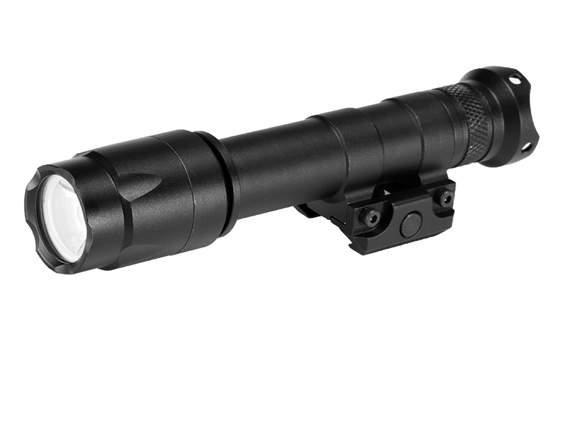 M600A LED Weapon Flashlight Weaver Rails-Mountable With Remote Pressure Switch In Black