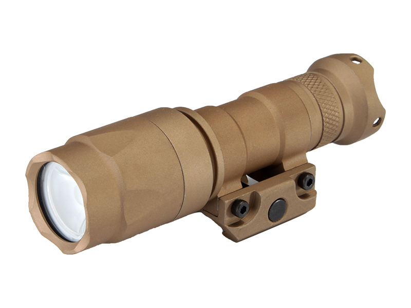 M300A LED Weapon Flashlight Weaver Rails-Mountable With Remote Pressure Switch In Tan