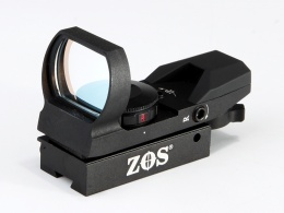 ZOS 4 Reticle Red Dot Sight With Red & Green Dot And 11MM Ring Mount
