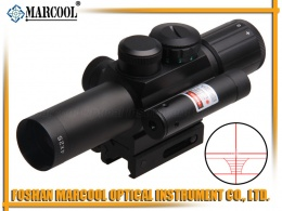 M6 4X25 Riflescope with Red laser sight